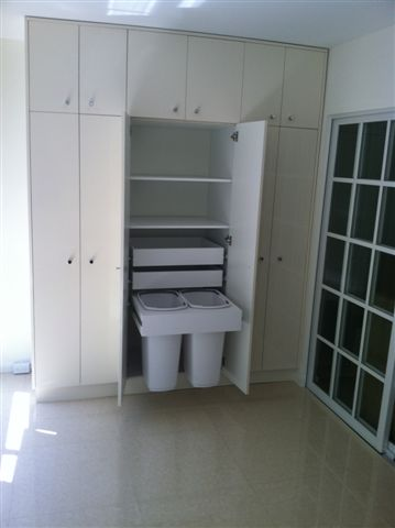 Glossy Thermofoil Storage Unit/ Recycling Bins