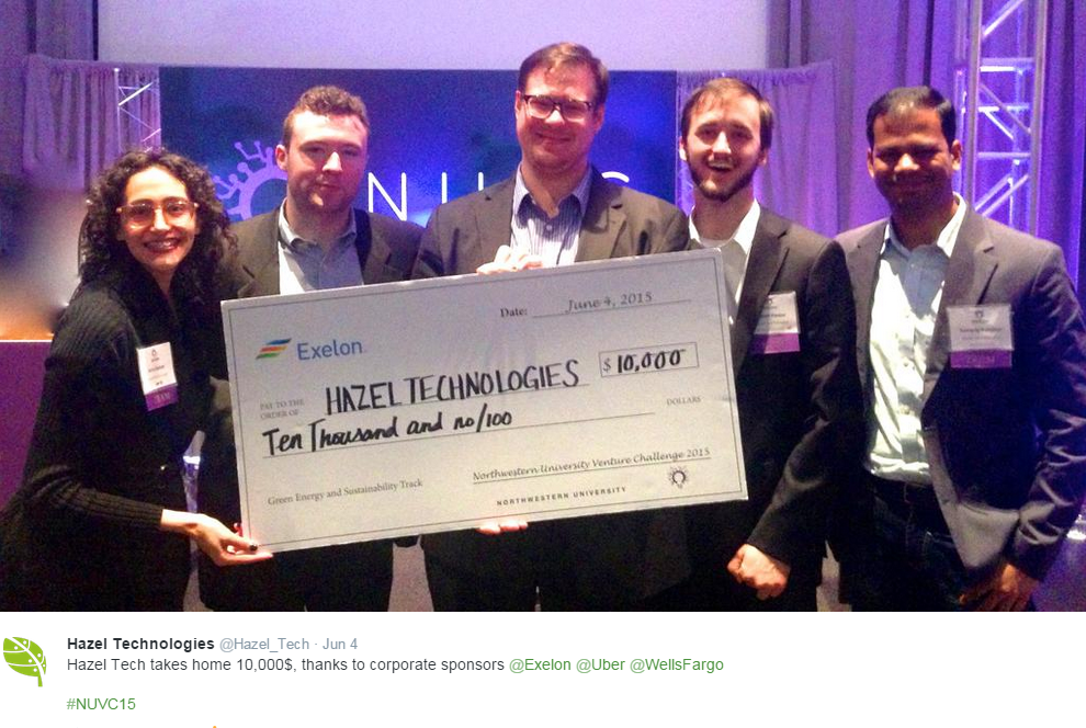 HazelBlog Article Banner: 10,000$ Prize for Hazel Tech at NUVC