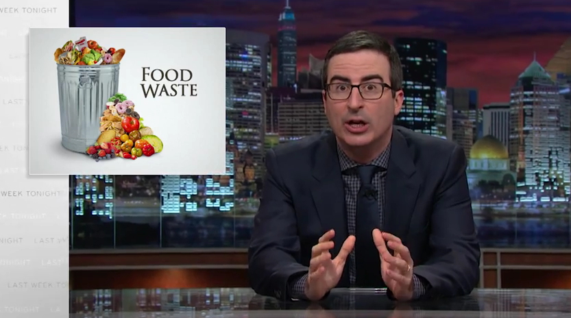 HazelBlog Article Banner: Reaction: John Oliver Food Waste Routine