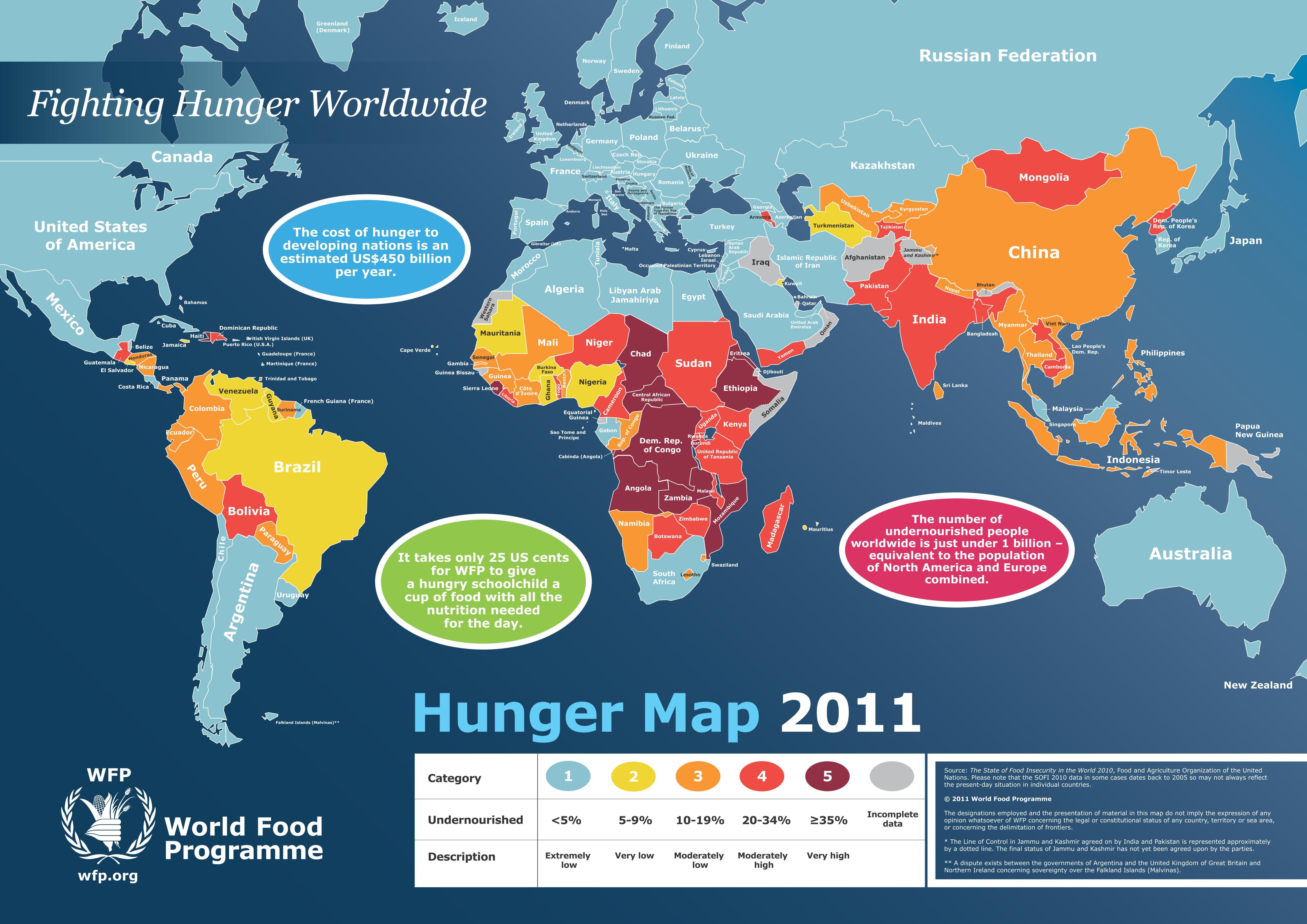 Food deficiencies are especially pronounced in Sub-Saharan Africa.