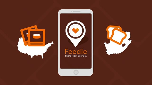 Feedie, the proprietary app of developed by the Lunchbox Fund.