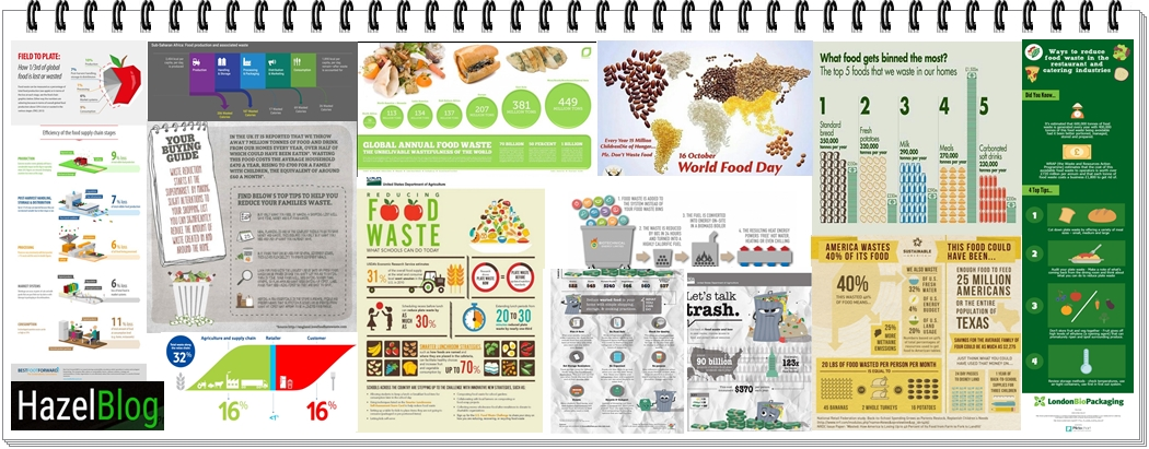 HazelBlog Article Banner: Rating 13 Top Food Waste Infographics from the Twittersphere
