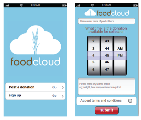 Foodcloud connects local supermarkets with surplus food and charities in need of the food.