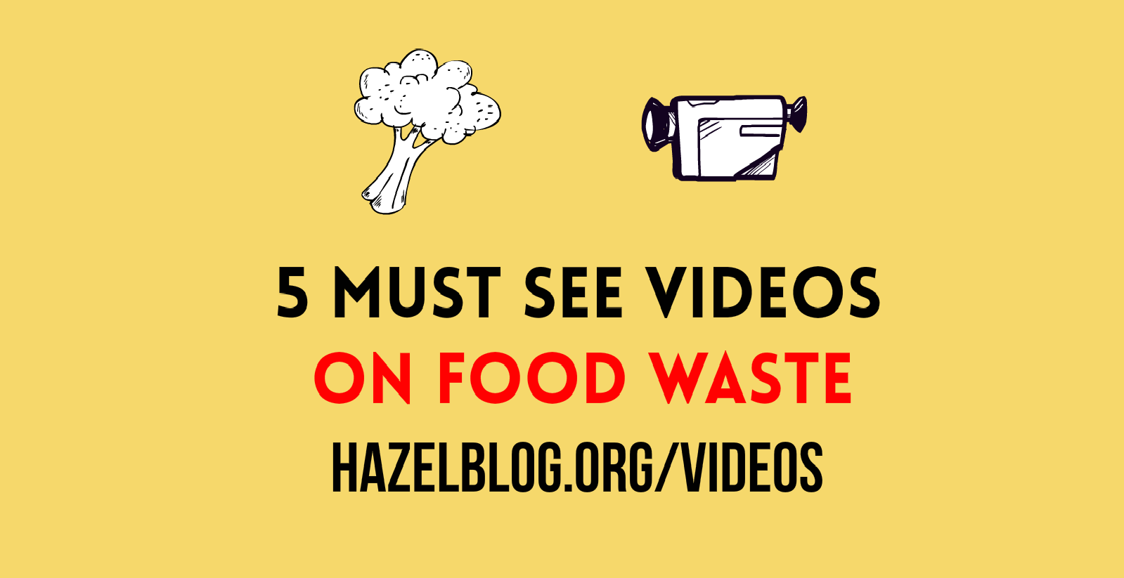 HazelBlog Article Banner: 5 Food Waste Videos You Need to Watch