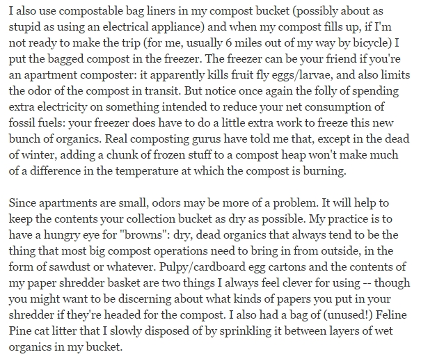 What is the best way to compost in an apartment?
