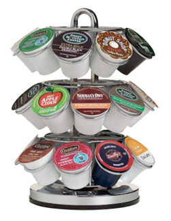 Examples of Single Service Coffee Pods. These pods are non-recyclable, and therefore must be buried