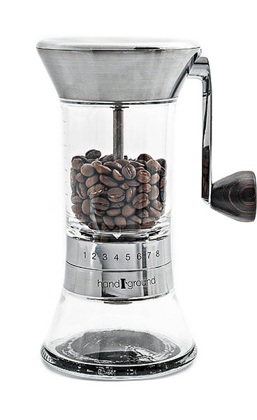 Handground Coffee Grinder in Nickel