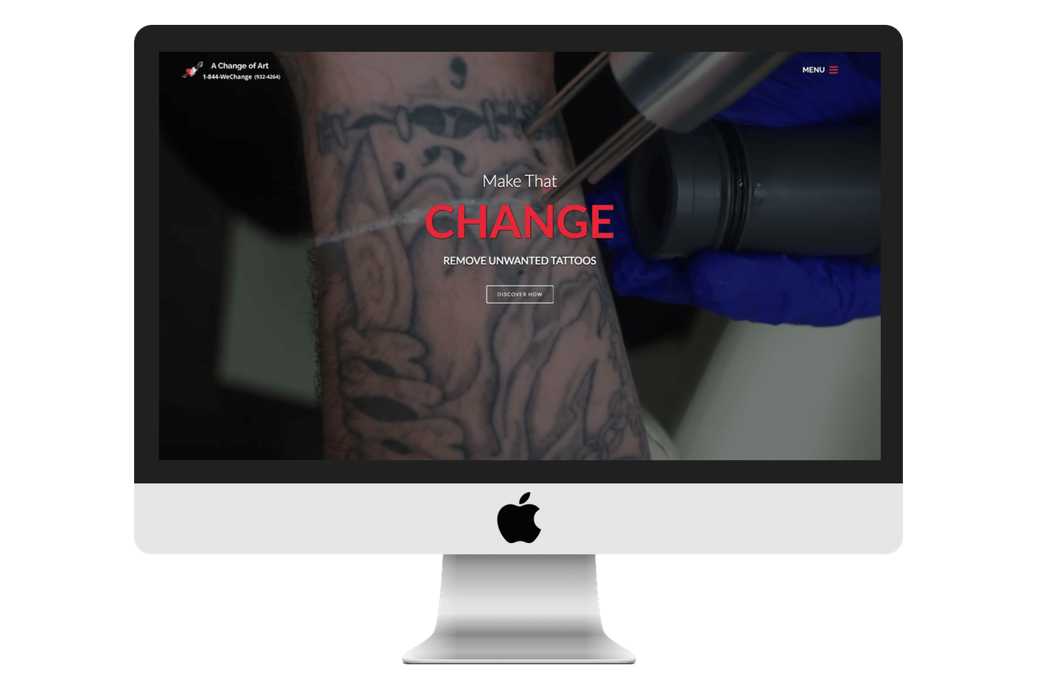 Image of responsive web design case study by Quetra Creative for A Change of Art Ecosystem