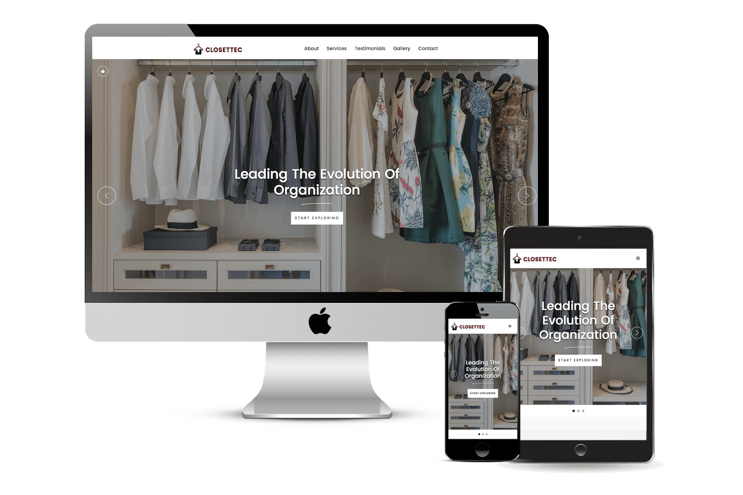 Image of responsive web design case study by Quetra Creative for Closettec Ecosystem
