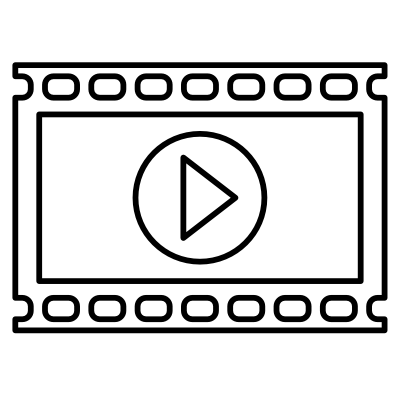 Image of a video icon for digital video services