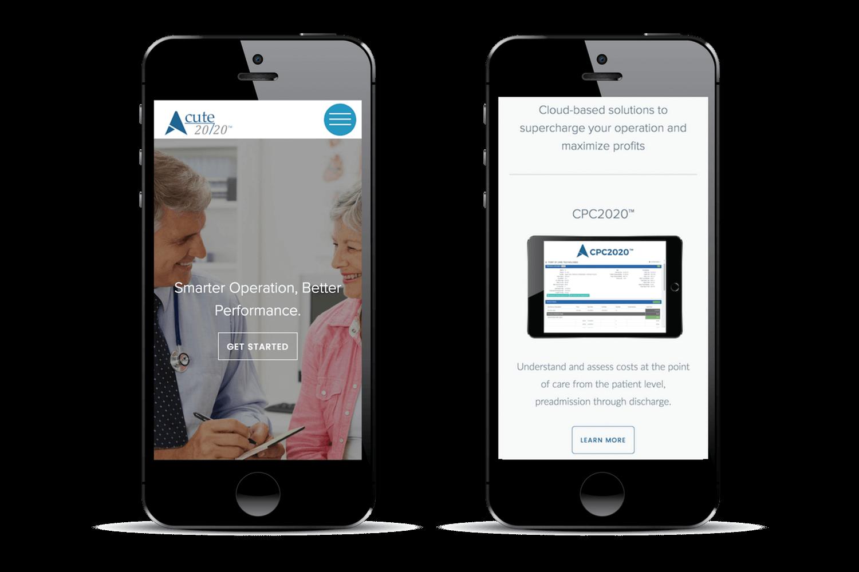 Image of Quetra Creative web design case study Acute 2020 mobile