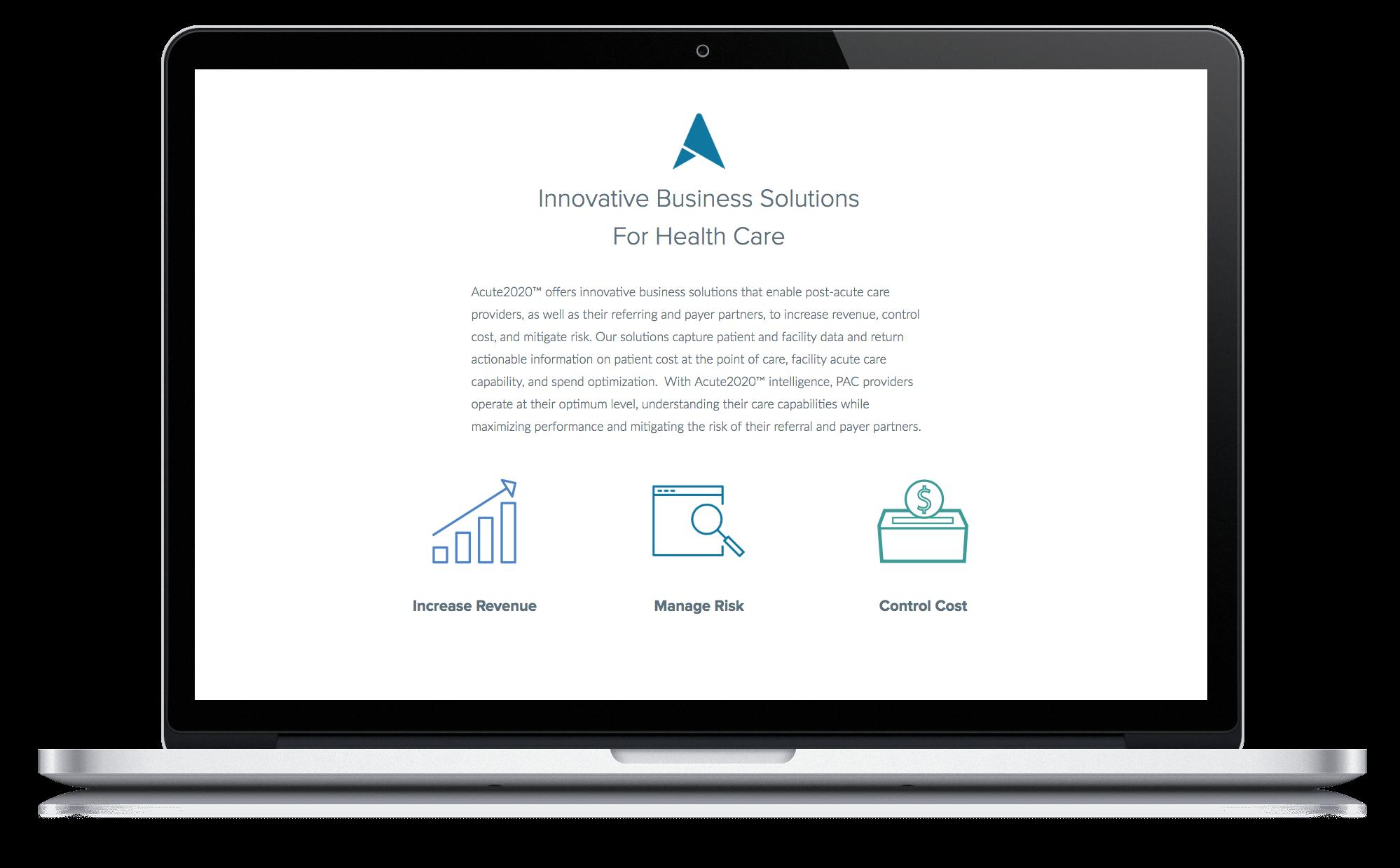 Image of Quetra Creative Web Design Case Study Acute 2020 Macbook Pro