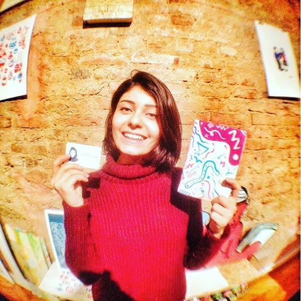 Stajın ilk günü mavi baskıyla kartvizitlerimi yaptım!