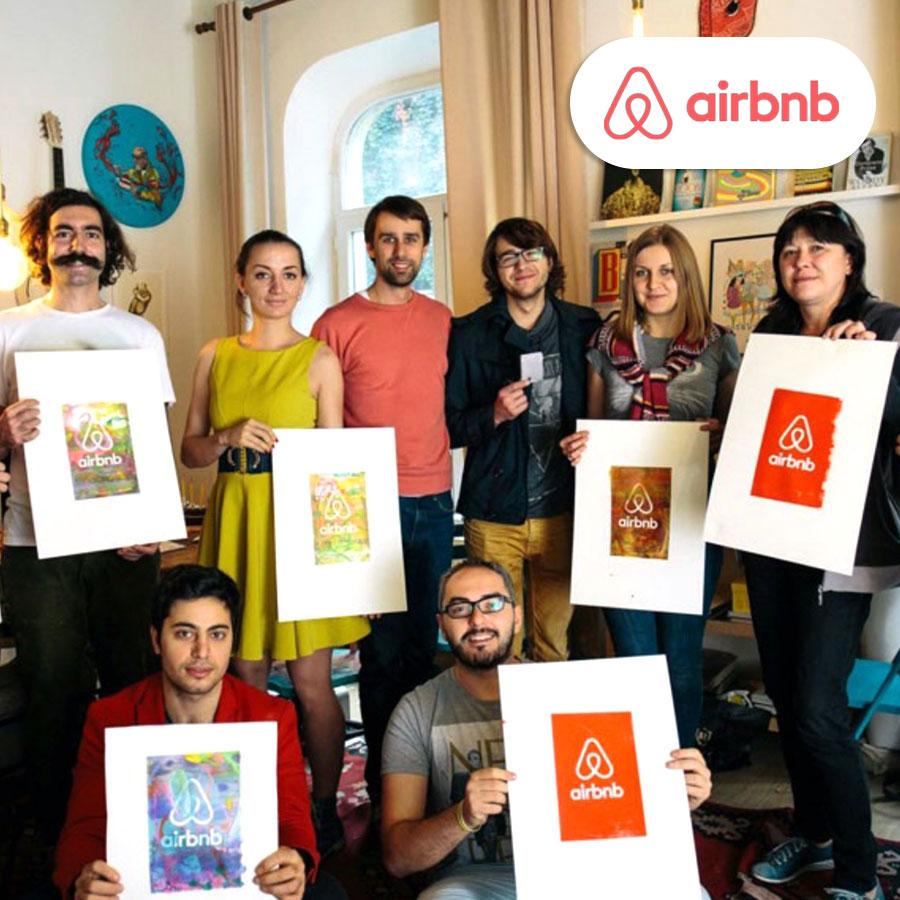 Air Bnb ile serigrafi atölyesi