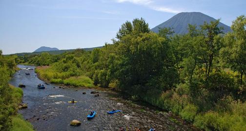 river kayaking in Niseko