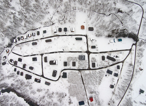 photo of country resort aerial winter