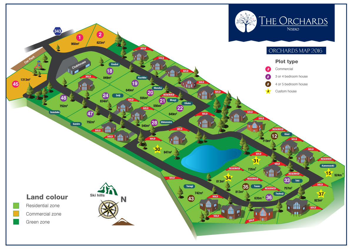 Orchards Sales map