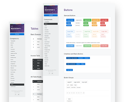 Axure Bootstrap 4 Widget Library Preview Image