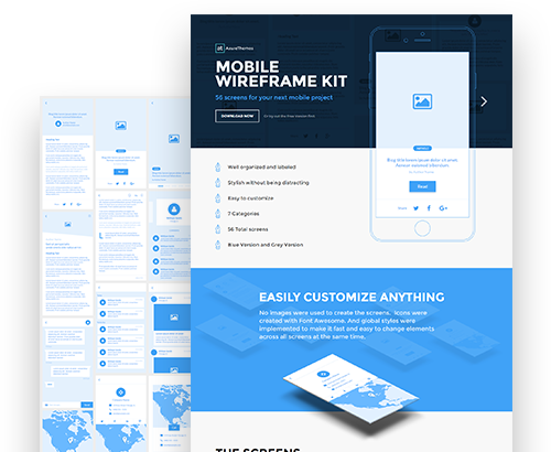 Axure wireframes for Axure tablet template