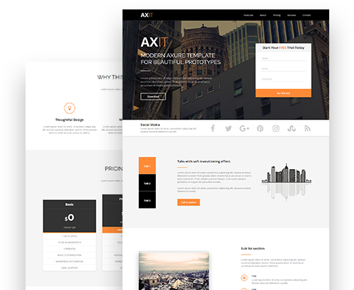 axure tablet template - axure templates