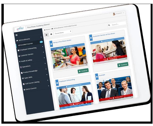 SmarterU on Tablet - SmarterU LMS - Learning Management System