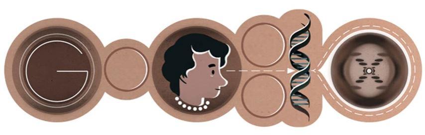 Google Doodle - Rosalind Franklin - SmarterU LMS - Learning Management System