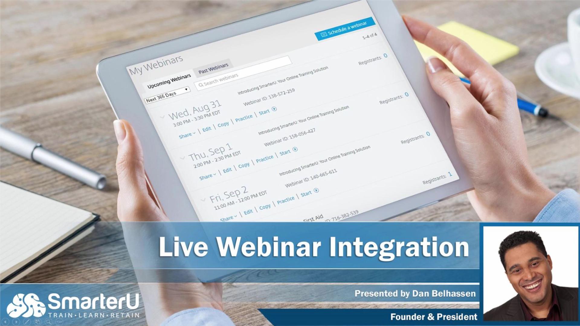 SmarterU LMS Live Webinar Integration - SmarterU LMS - Learning Management System