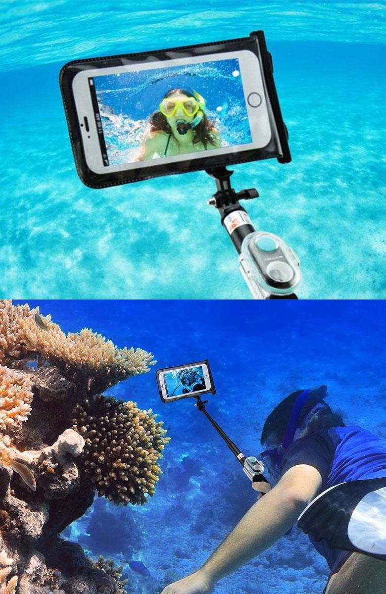 Живое фото монопода Xplay S6-WP под водой