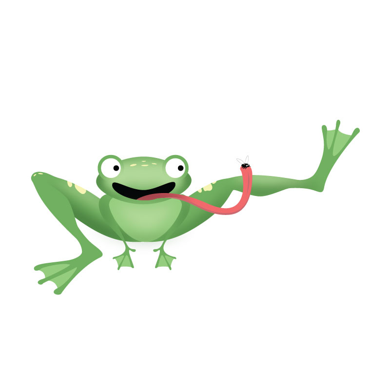 Illustration of a frog.