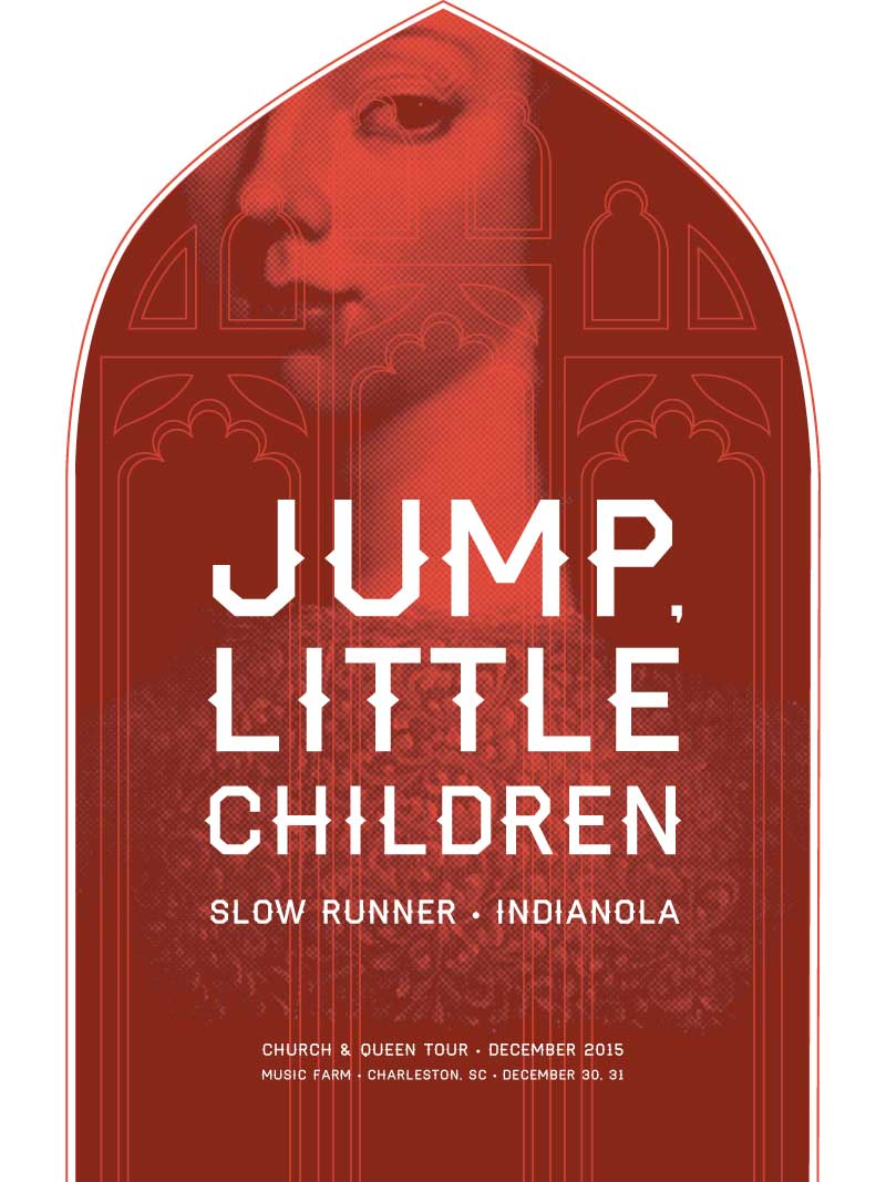 Poster for rock band, Jump, Little Children.