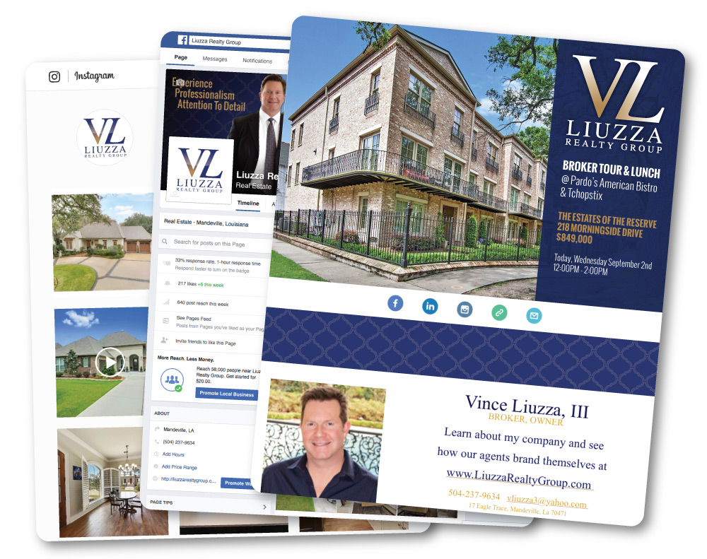 Email Marketing and Design for Liuzza Realty