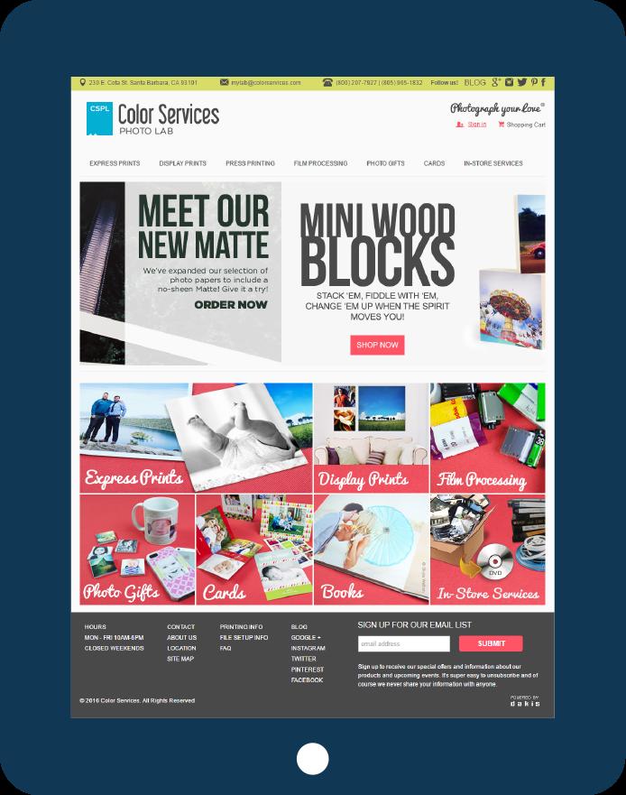 Managed Website on tablet