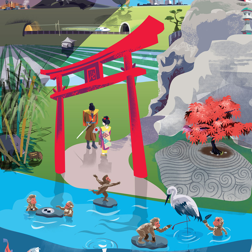 Kids Storytelling Poster of Oriental Scene