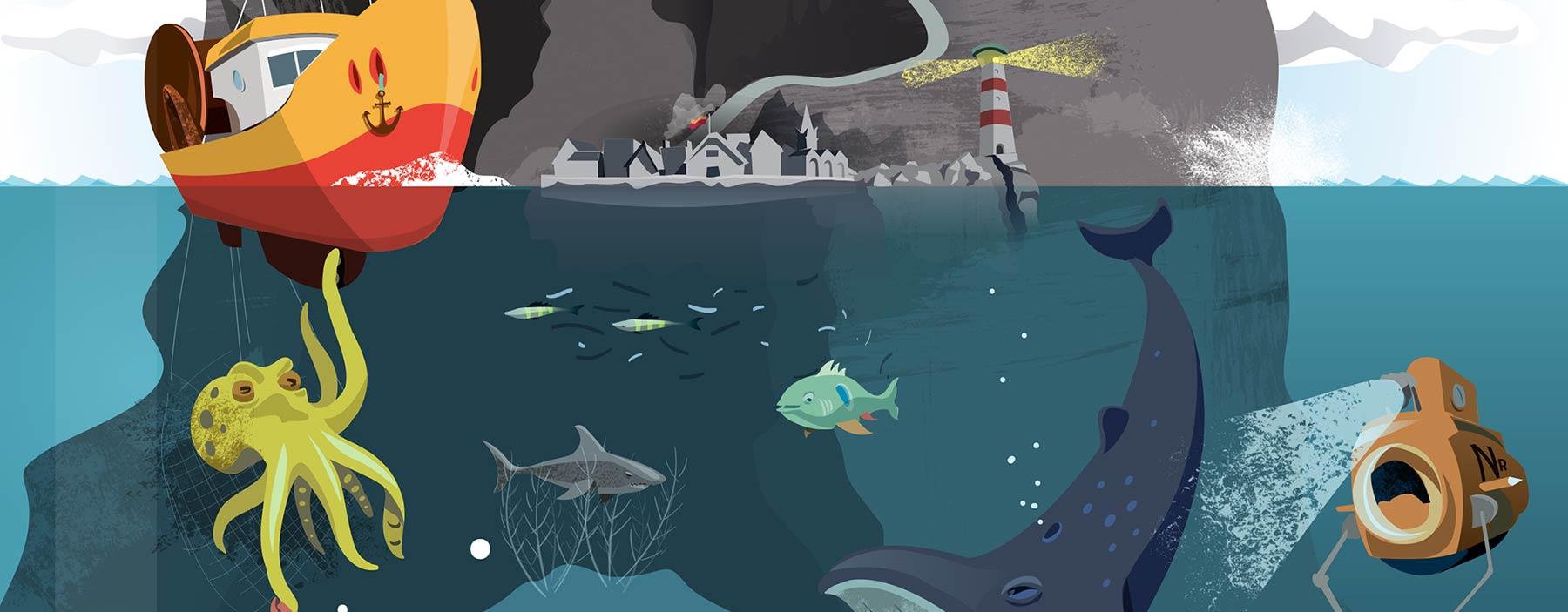 Kids Storytelling Poster of Undersea World