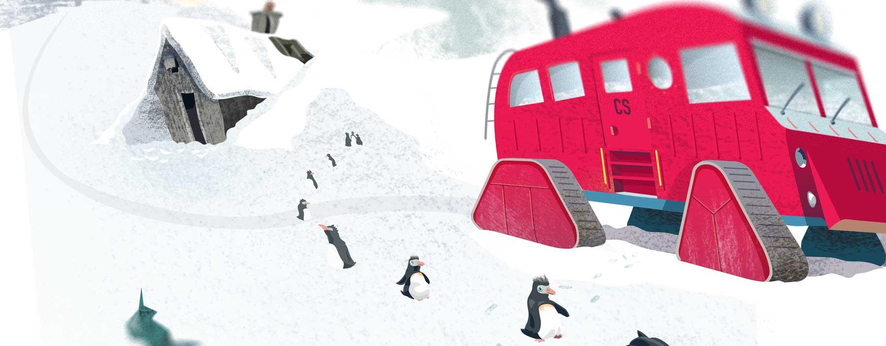 Kids Storytelling Poster of Antarctic Exploration