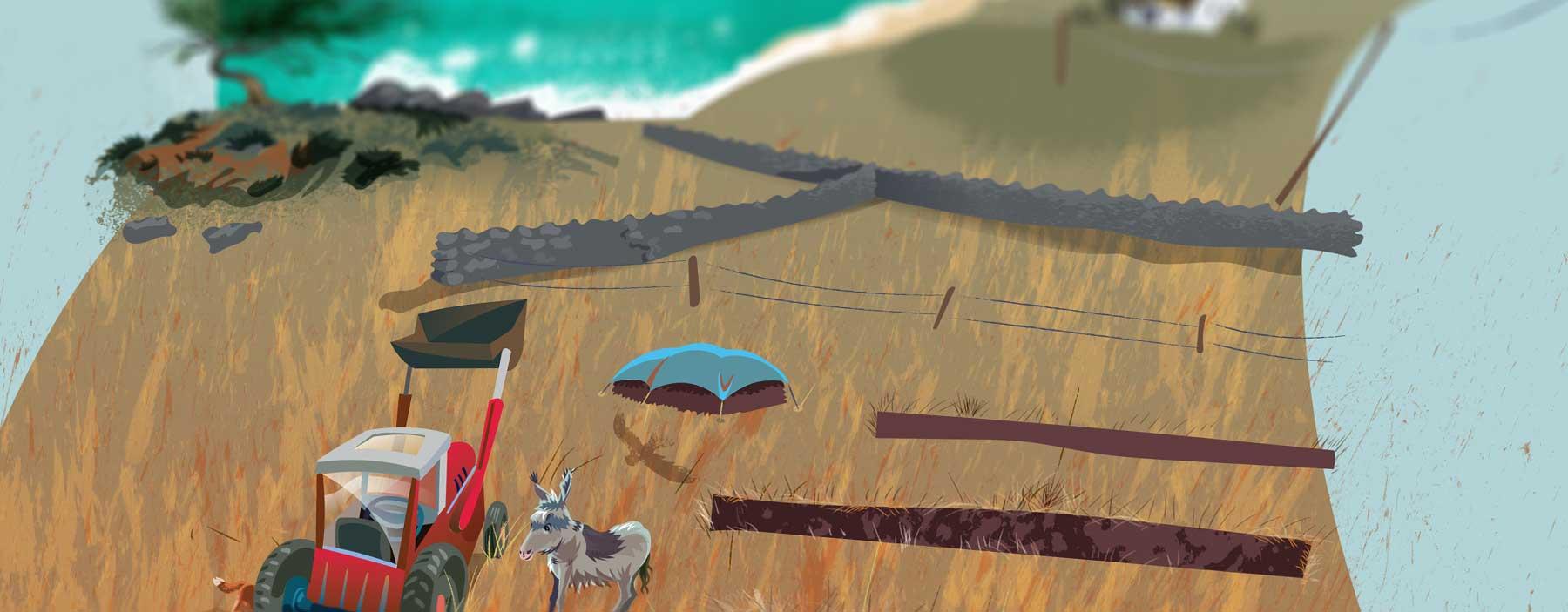 Kids Storytelling Poster of a West Atlantic Coast of Ireland