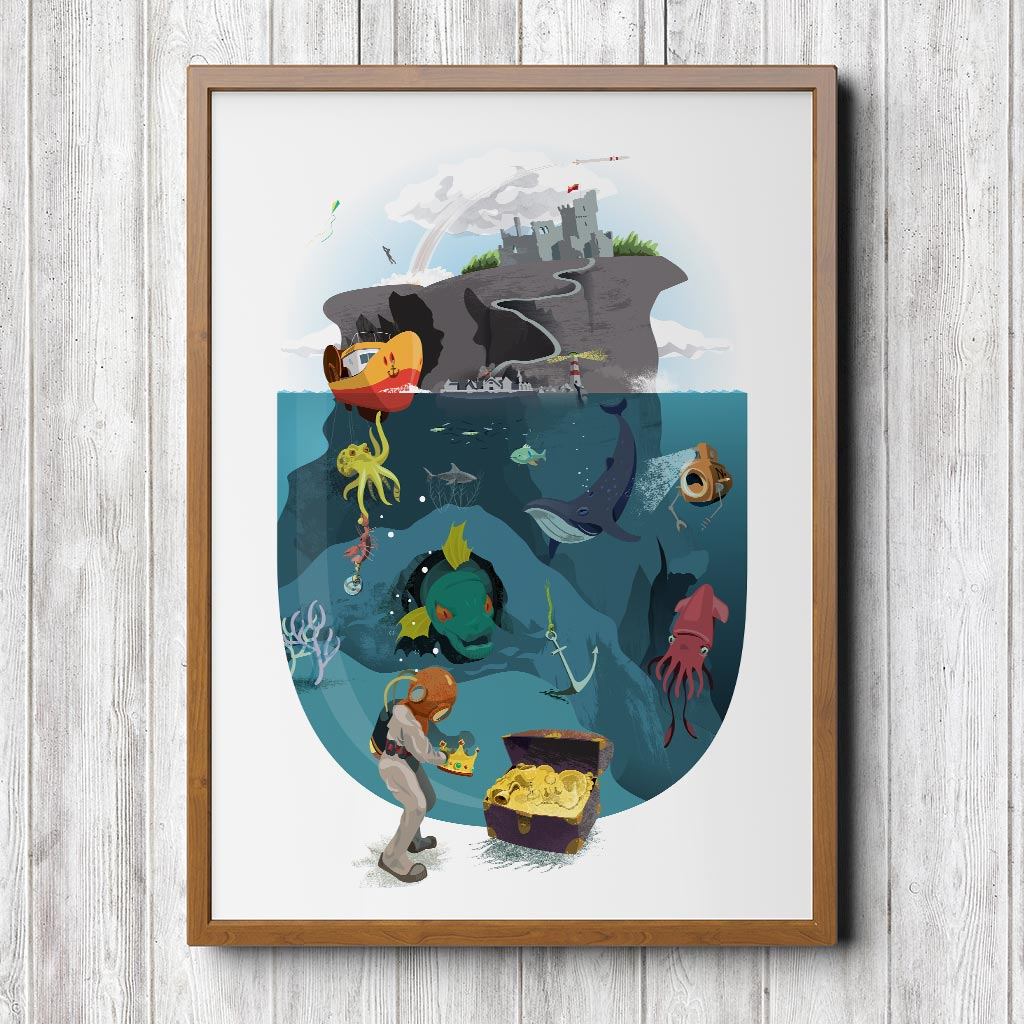 undersea adventure - storytelling art made for little ones