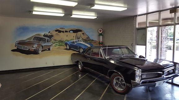 interior of auto repair shop