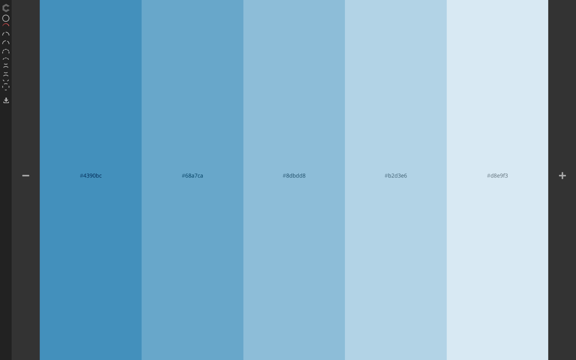 Image Gallery Light Blue Color Scheme