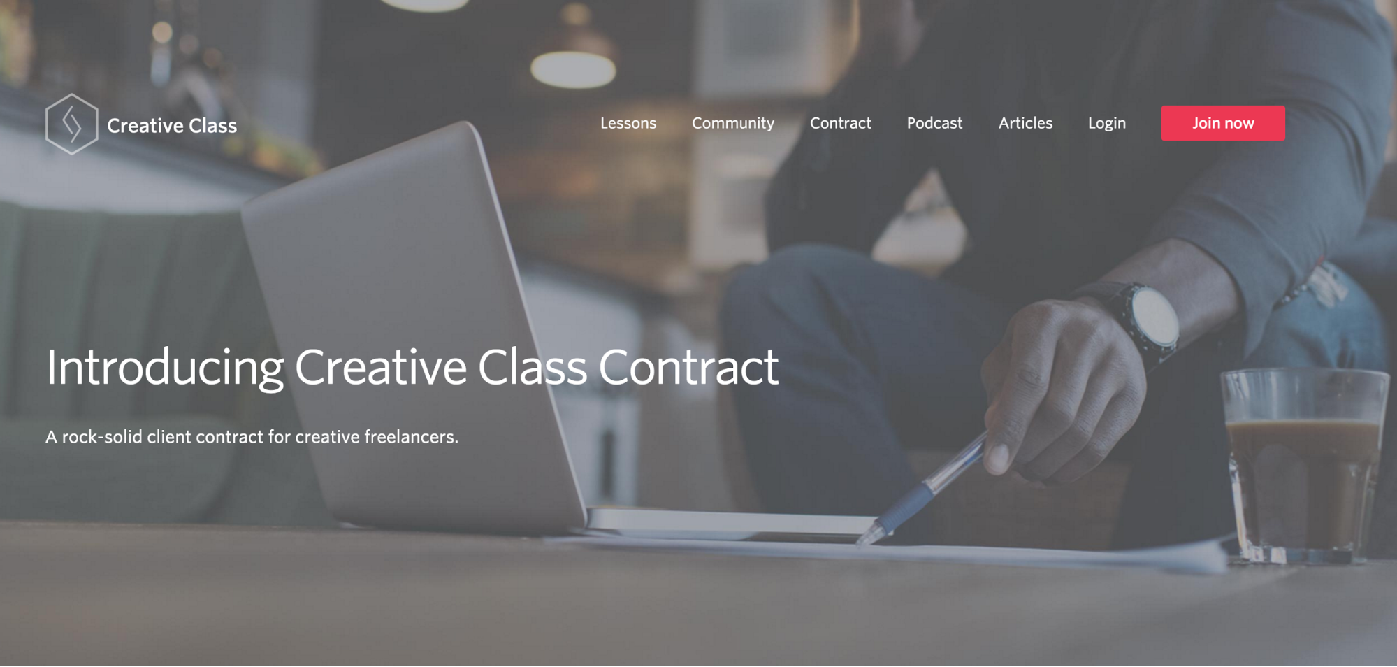 Creative Class contract course page