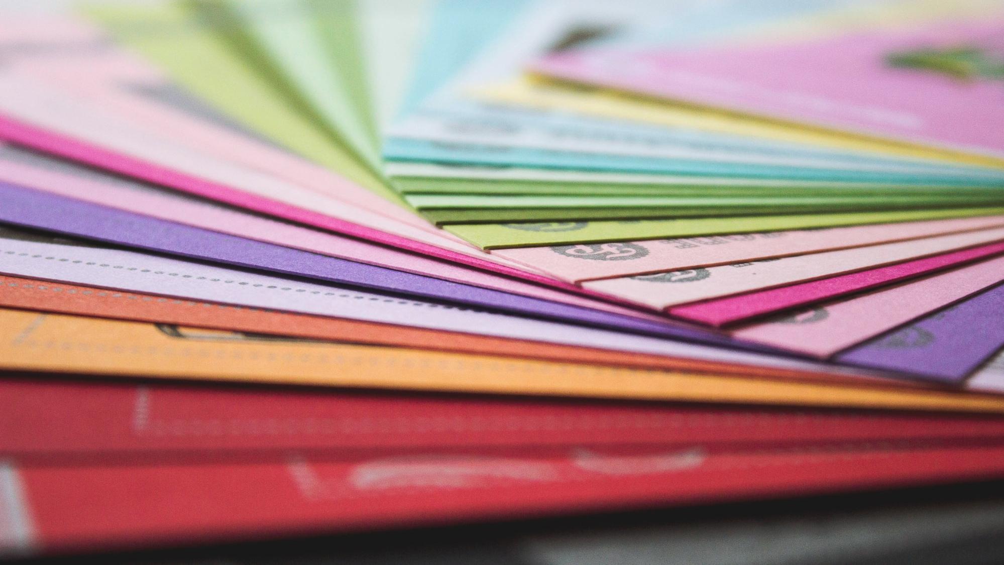Vibrant color samples