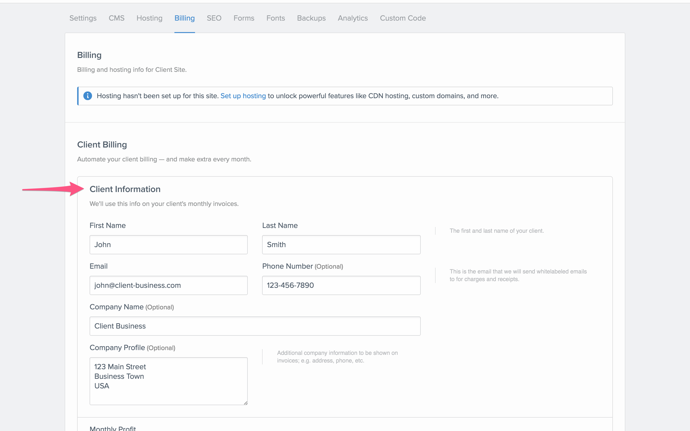 Setting Up Client Billing Webflow University - Invoice submission meaning