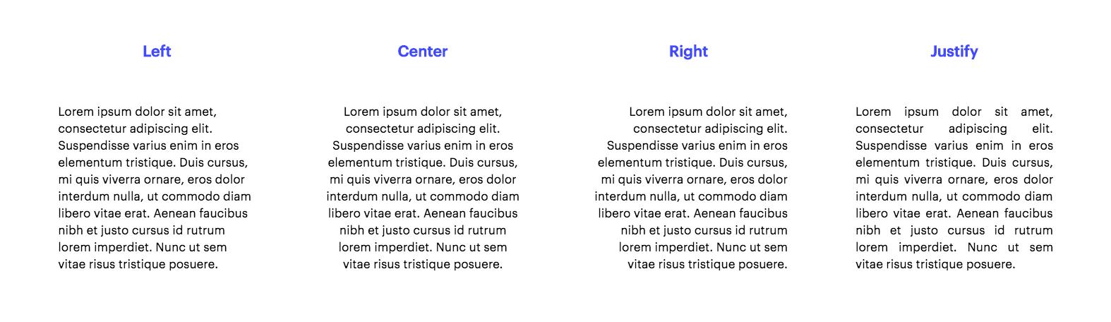 Alignment Typography