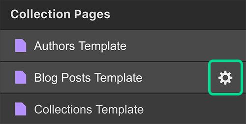 Collection page webflow university dynamic seo settings maxwellsz
