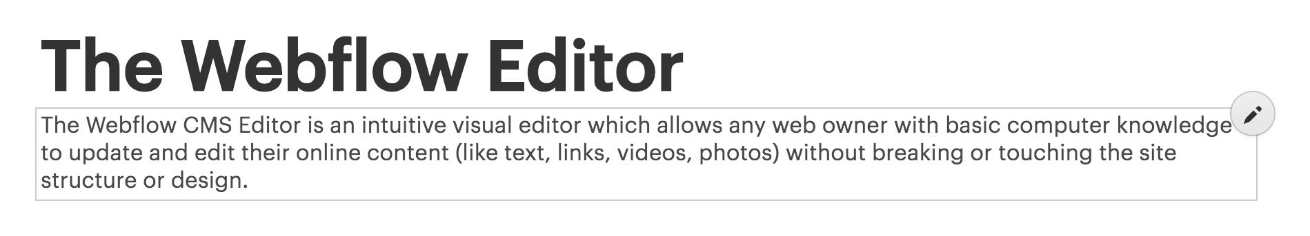 Intro to the Editor | Webflow University