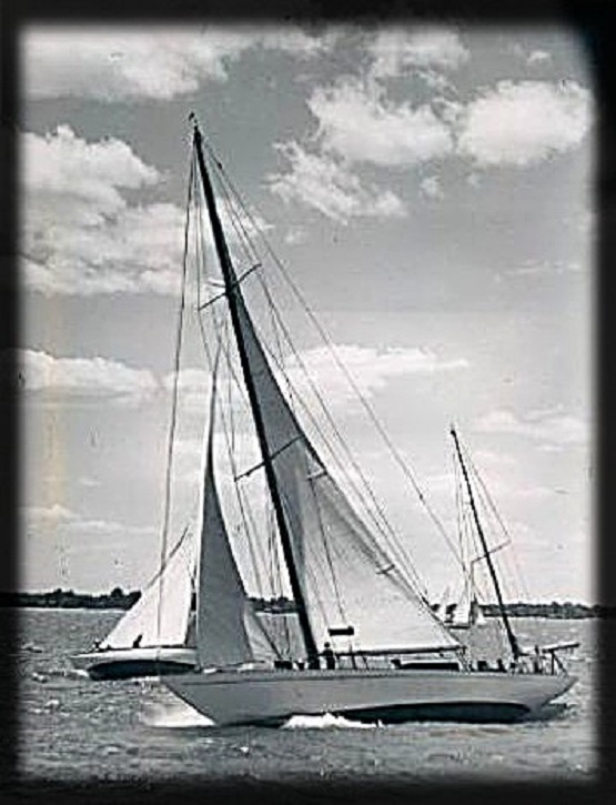 Detroit News Press image of Sailboat Windigo July-15-1939  Staff photographer Nagel