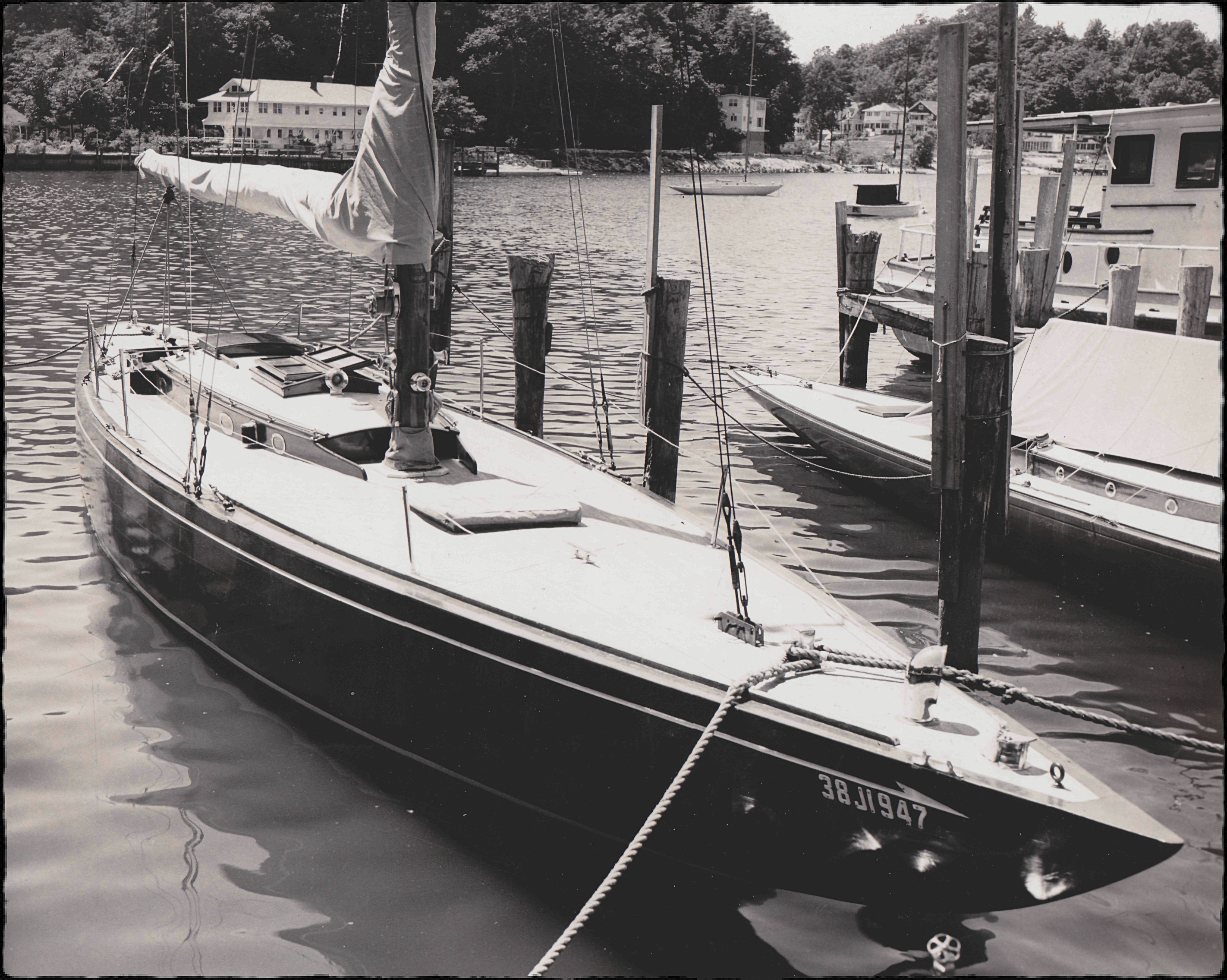 Grand Rapids Press photo of sailboat Rangoon  June -17-1959