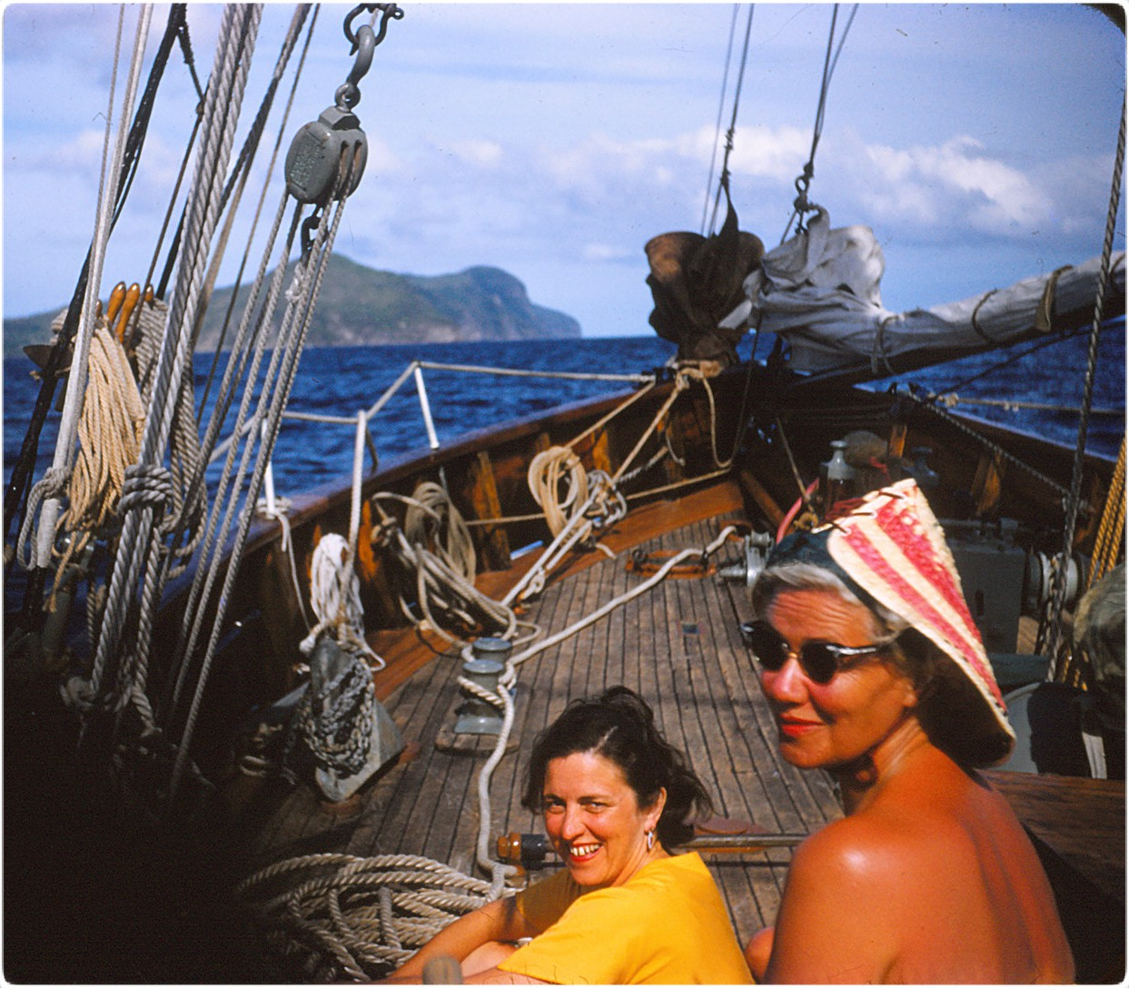 Photo of E.C. Withey on a sailboat in the islands