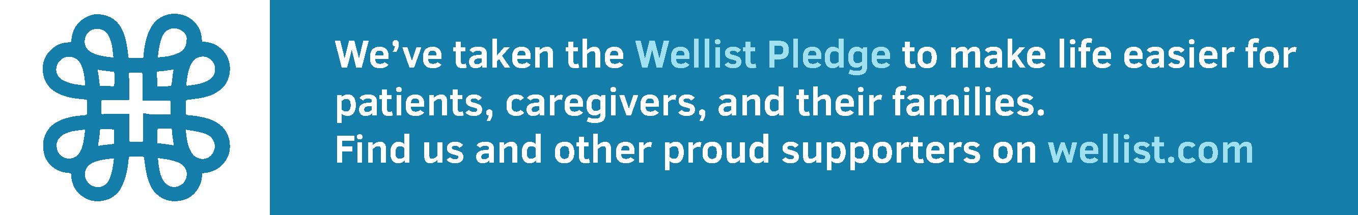 Wellist Pledge badge example
