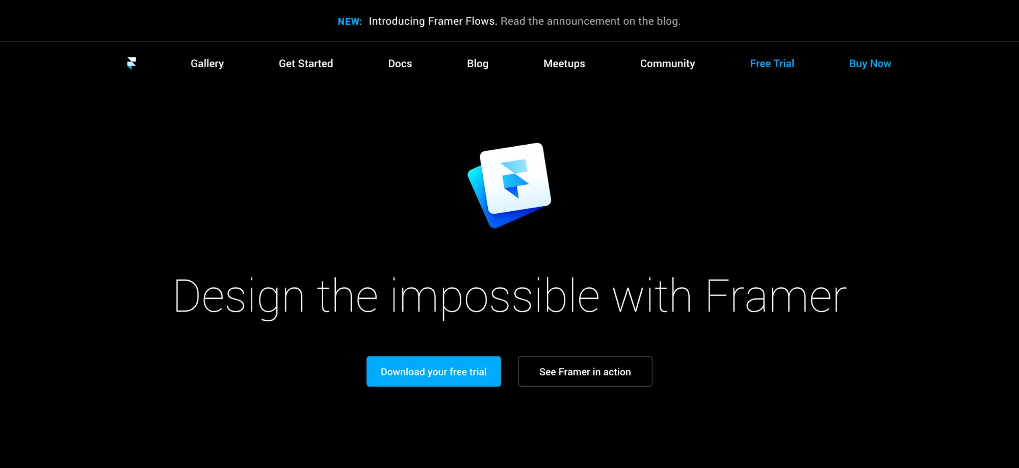 Framer homepage